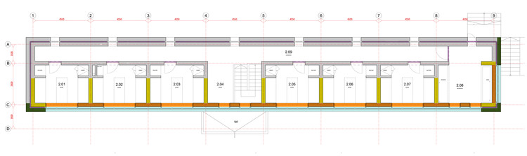 Dormitory Building Plan. Image Courtesy of Archide
