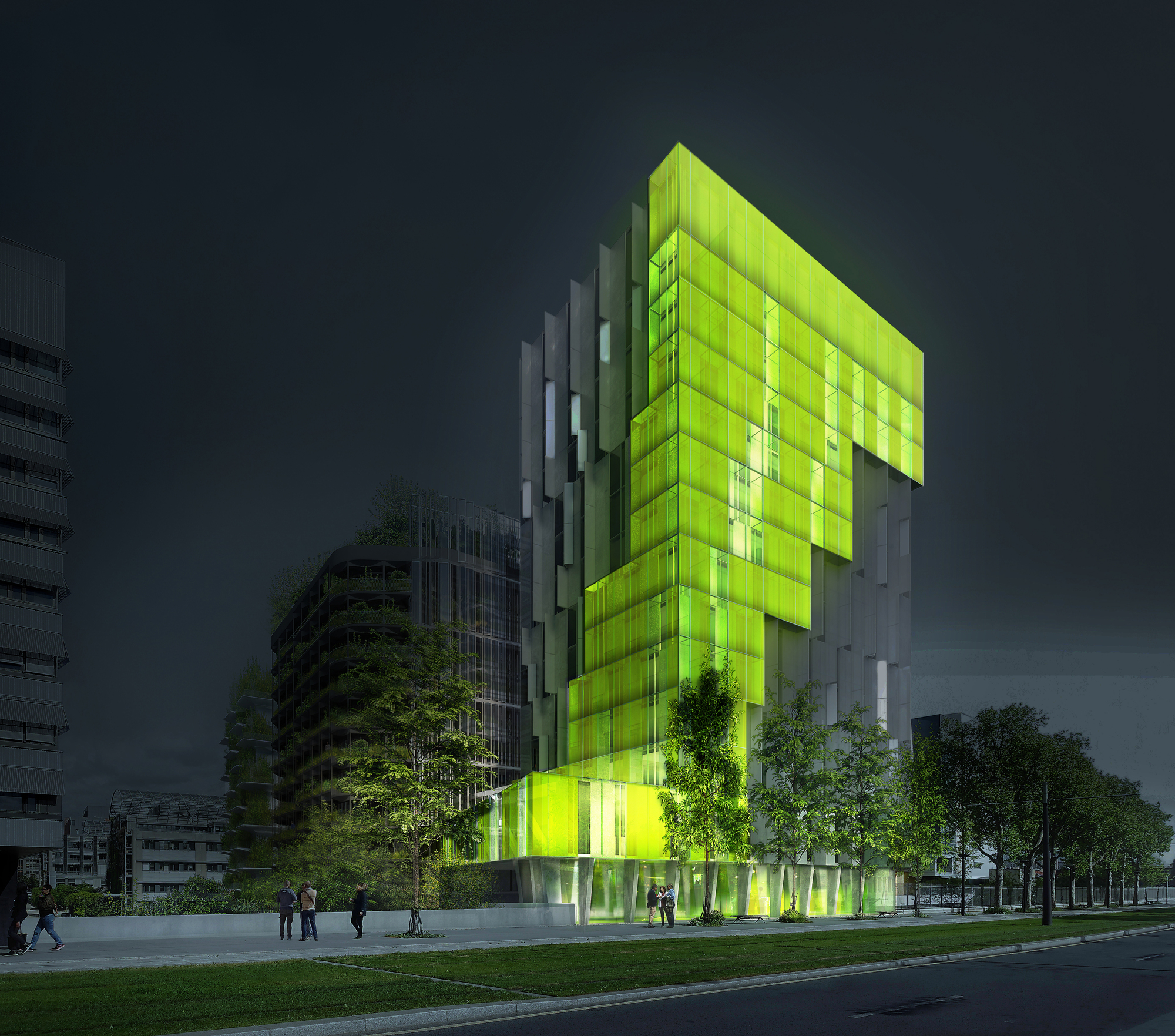 Treehouse House Gallery Of Xtu Architects Quot In Vivo Quot Green Project Among