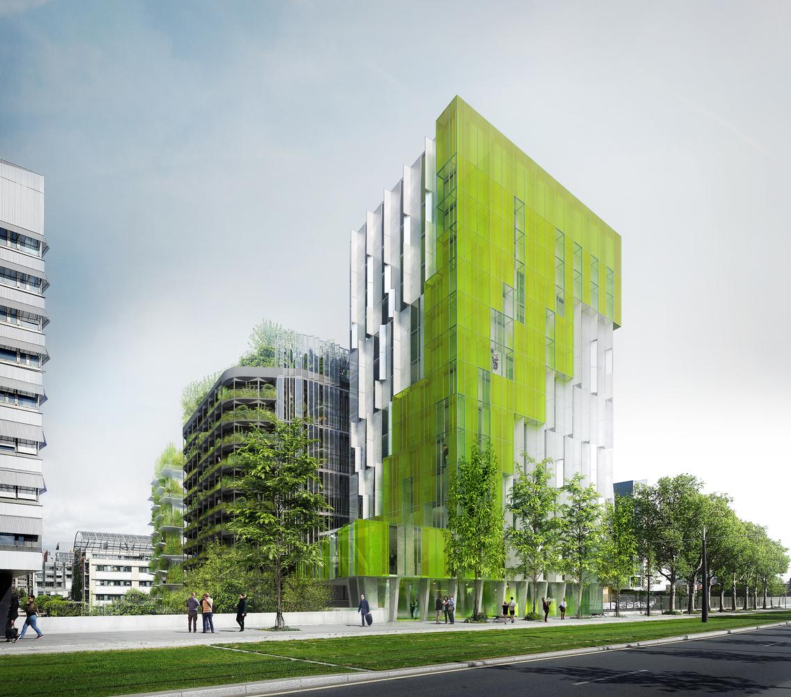 معرفی ساختمان سبز XTU برنده مسابقه Reinventer Paris