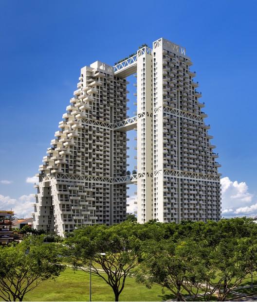 Sky Habitat Singapur / Moshe Safdie, © Edward Hendricks