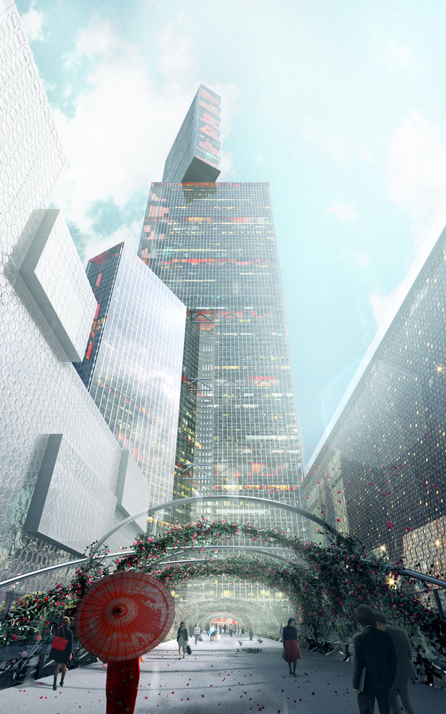 Gallery of plp unveils pearl river delta 39 s tallest for Delta v architecture