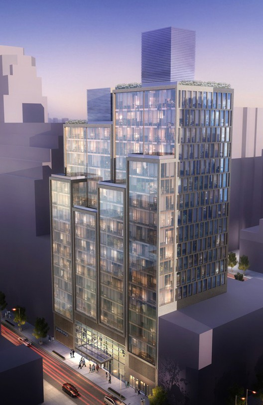 Ismael Levya to Transform NYC Parking Garage into Luxury Residential Tower, © Ismael Levya Architects via New York Yimby