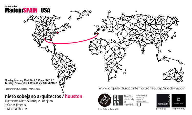 MadeinSpain_USA: Nieto Sobejano Arquitectos to Lecture at RICE in Houston