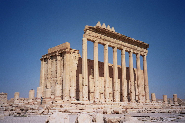 The Temple of Bel in Palmyra, before its destruction in August 2015. Image © upyernoz Licensed Under CC BY 2.0