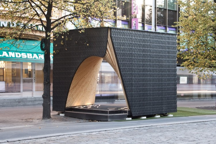 Pauhu Pavilion Constructed for Tampere Architecture Week in Finland, Courtesy of Tampere Architecture Week