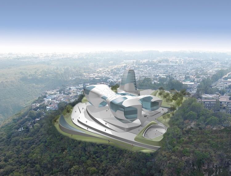 Guggenheim Museum proposal, Guadalajara, 2005. Image Courtesy of Asymptote Architecture