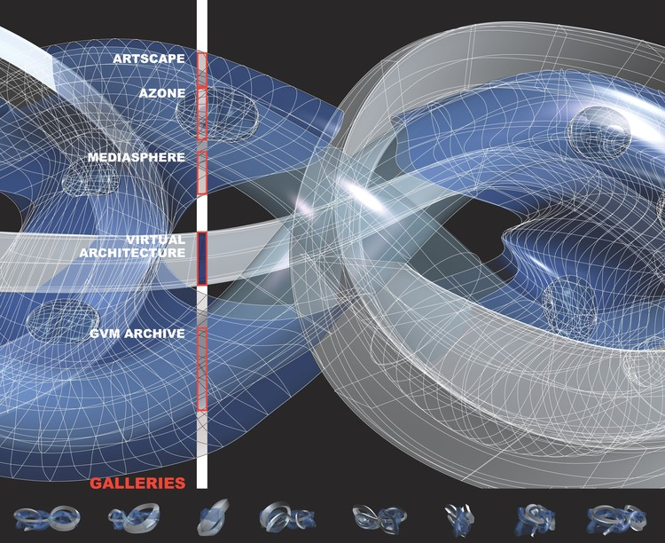 Virtual Guggenheim Museum, 2005. Image Courtesy of Asymptote Architecture