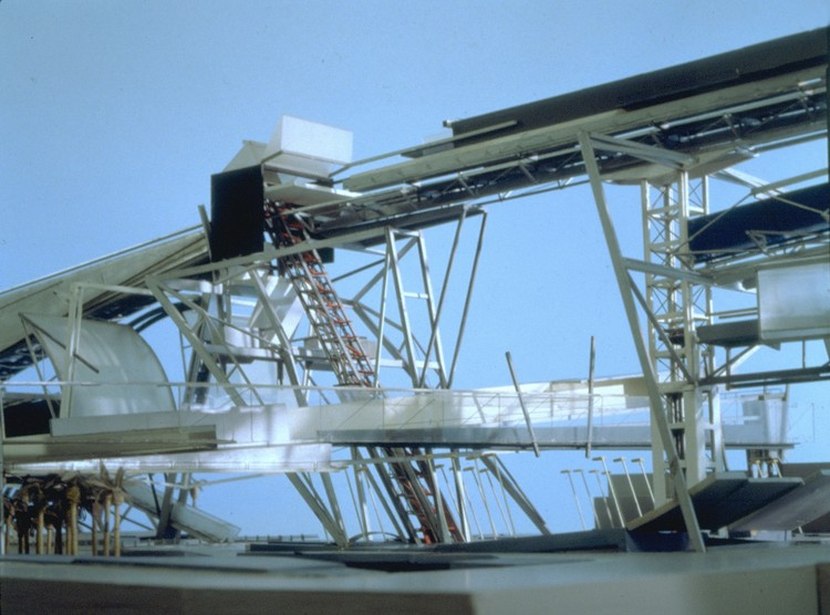 Steel Cloud, Los Angeles West Coast Gateway Competition, 1989. Image Courtesy of Asymptote Architecture