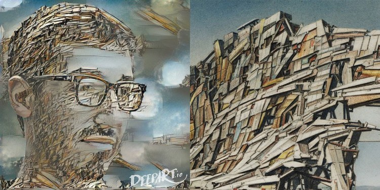 Have Your Portrait Done in the Style of Your Favorite Architect-Artist with DeepArt, Based on Quake City by Lebbeus Woods (1995). Image Courtesy of Daniel Voshart