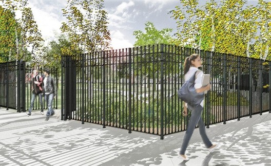 """Estado proyectado como actual para los Accesos, """"Parques sin Fronteras"""". Image © Departamento de Parques de Nueva York"""