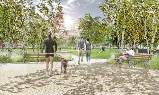 """Propuesta para los Accesos, """"Parques sin Fronteras"""". Image © Departamento de Parques de Nueva York"""