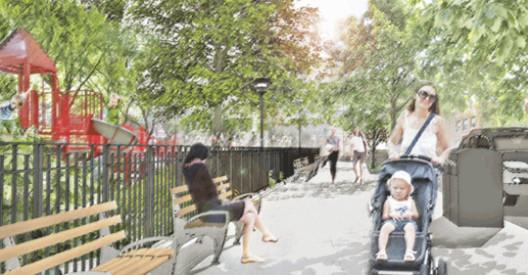 """ropuesta para los Bordes, """"Parques sin Fronteras"""". Image © Departamento de Parques de Nueva York"""