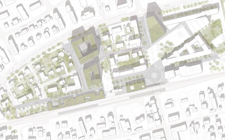 Planta de contexto. Image Cortesía de bakpak architects