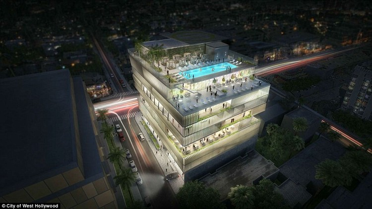 Gwyneth Paltrow Hires Gensler to Design New Hollywood Arts Club, © City of West Hollywood via Daily Mail