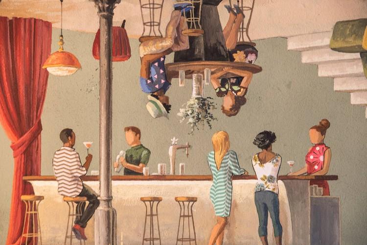 Mural en Guzgo Barcelona. Image Cortesía de Cinta Vidal
