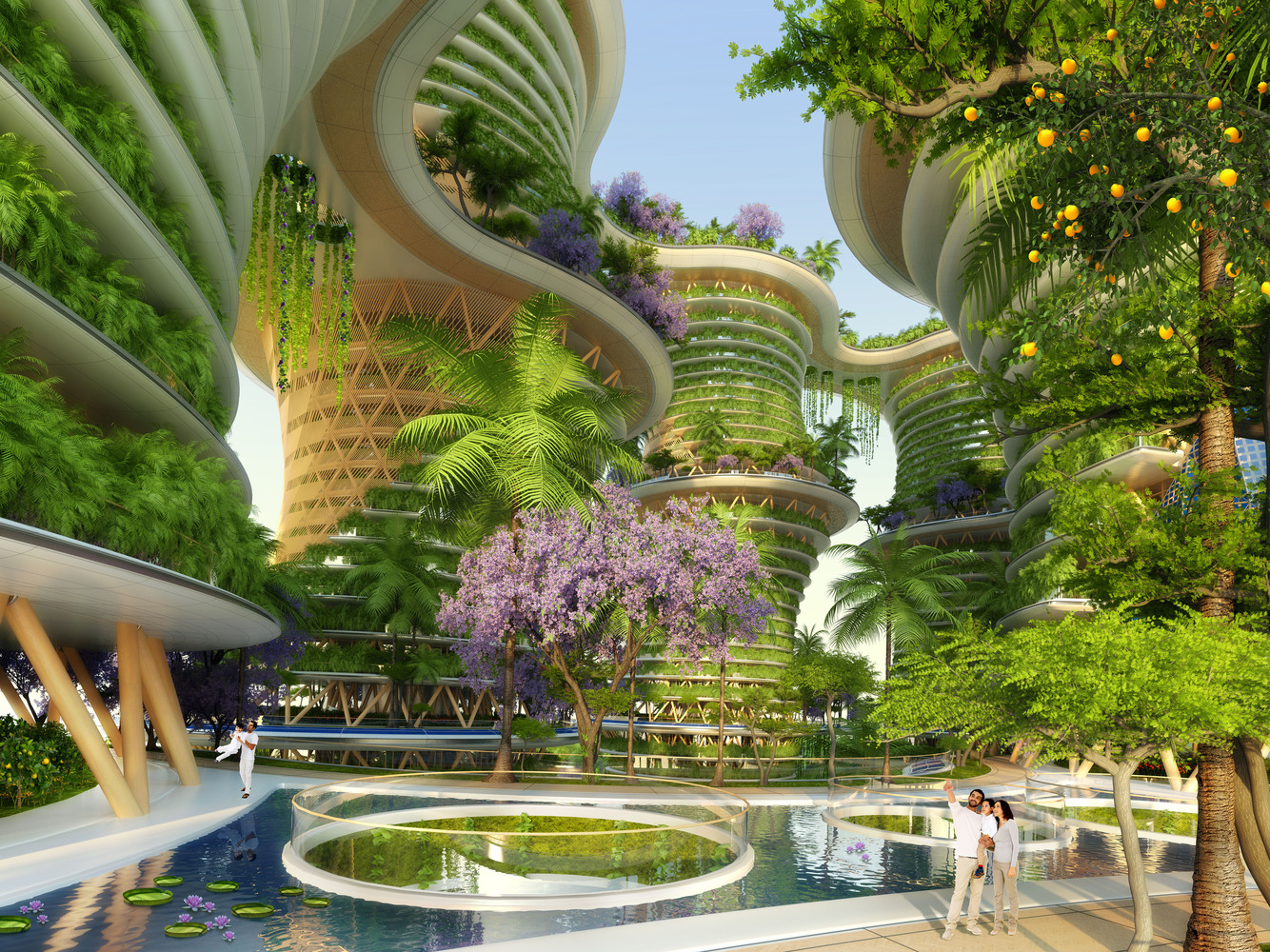 Gallery of vincent callebaut s hyperions eco neighborhood for Architecture futuriste ecologique