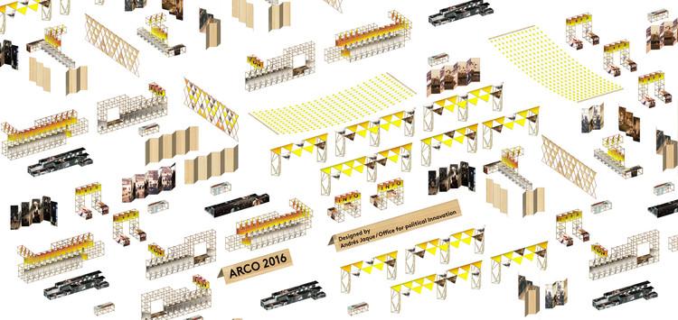 ARCOmadrid celebra su 35 aniversario con diseño a cargo de Andrés Jaque / Office for Political Innovation, Diagrama General. Image Cortesía de Andrés Jaque / Office for Political Innovation