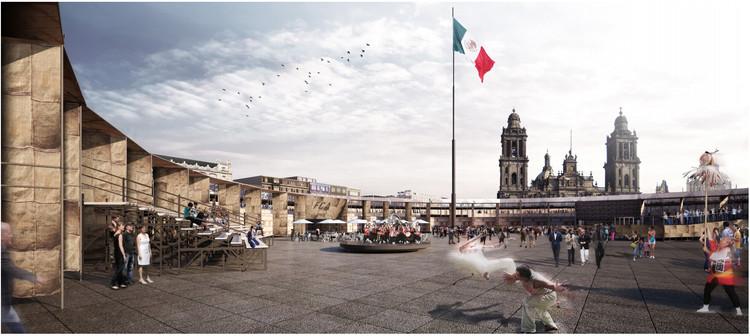 Proyecto conceptual ganador por Ambrosi | Etchegaray . Image vía Coordinación General de Asuntos Internacionales del Gobierno de la Ciudad de México