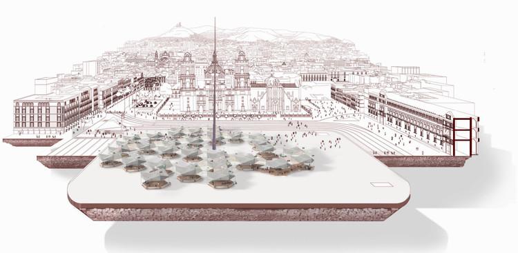 Proyecto conceptual finalista por El Umbral. Image vía Coordinación General de Asuntos Internacionales del Gobierno de la Ciudad de México