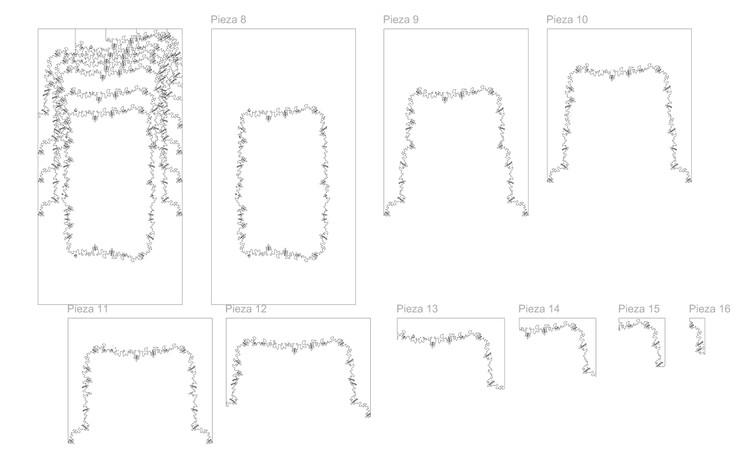 Piezas de corte CNC. Image Cortesía de Estudio Izaskun Chinchilla