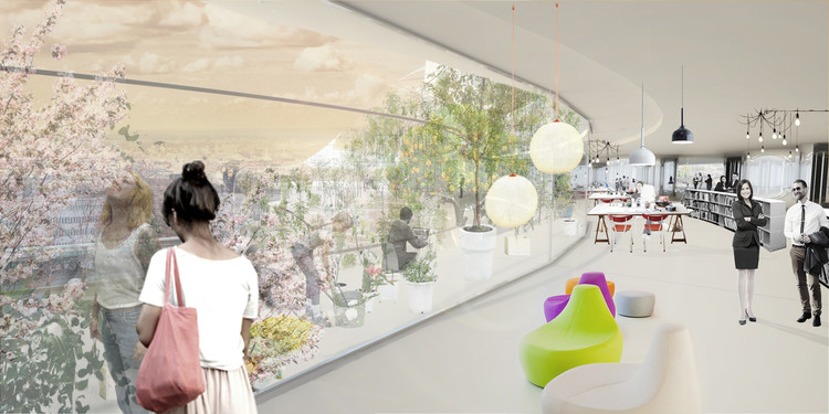 Rendered Interior View. Image Courtesy of Urban Design AB & SelgasCano