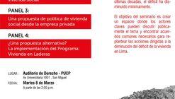 Seminario de Políticas de Vivienda Social. Limápolis 2016.