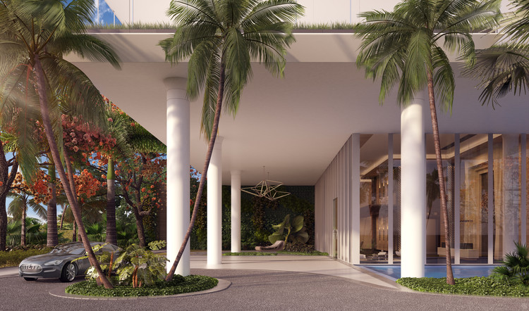Entrance Rendered View. Image Cortesía de Nadine Johnson & Associates