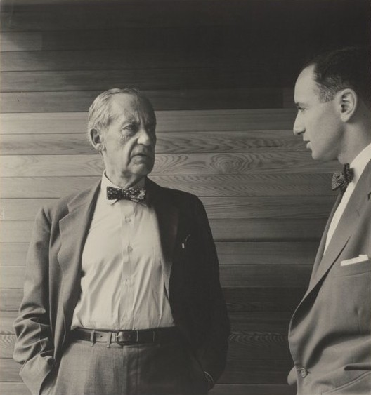 On Medieval Modernism: Sydney's Harry & Penelope Seidler House, Walter Gropius and Harry Seidler (right), 1954. Image © Max Dupain