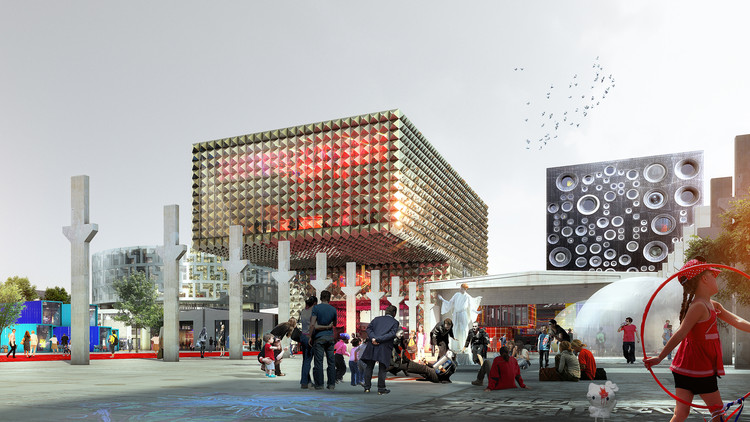 The original render for the Roskilde Rockmuseum. Image © COBE/MVRDV/Luxigon
