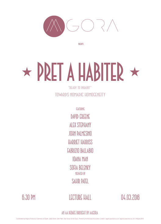 Debate: Pret A Habiter - Ready to Inhabit