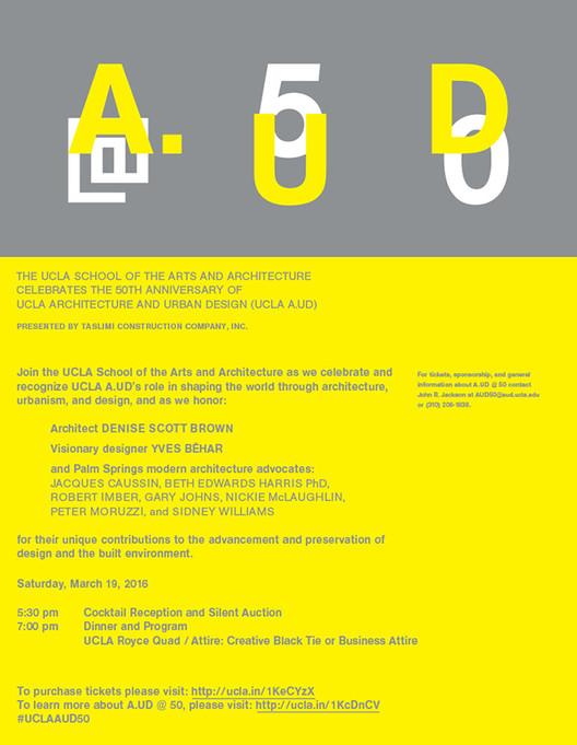 Event: UCLA Architecture and Urban Design 50th Anniversary Gala