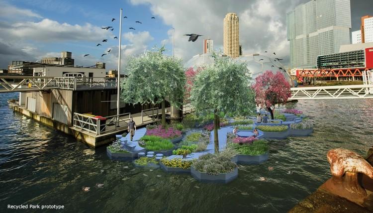 En Rotterdam construirán un parque flotante con el plástico que contamina el río Nuevo Mosa, © Recycled Park