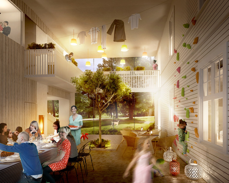 "White Arkitekter's ""Home for Heroes"" Breaks Ground in Sweden, Courtesy of White Arkitekter"