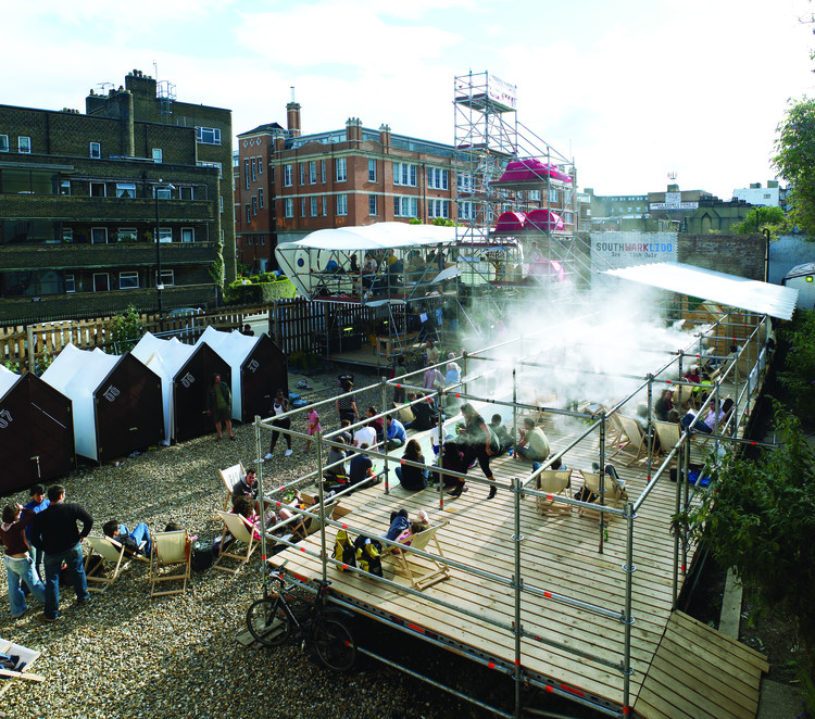Chapter 4 Interview with EXYZT: Each of EXYZT's projects is seen as a 'playground' for cultural engagement, inviting local communities and the public to appropriate the spaces. Image © RIBA Publications