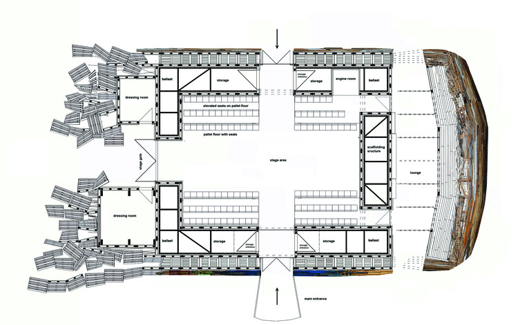 Chapter 5 Interview with Folke Kobberling: plan of the Jellyfish Theatre. Image © RIBA Publications