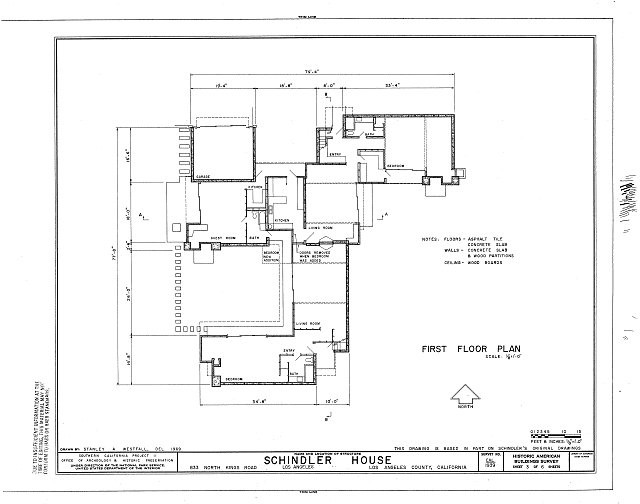 Ad Classics Kings Road House Rudolf Schindler on 200 Square Meter House Floor Plan