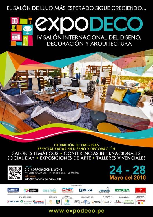 Lima: IV Salón Internacional del Diseño, Decoración y Arquitectura, EXPODECO 2016, EXPODECO 2016 - IV Salón Internacional del Diseño, Decoración y Arquitectura
