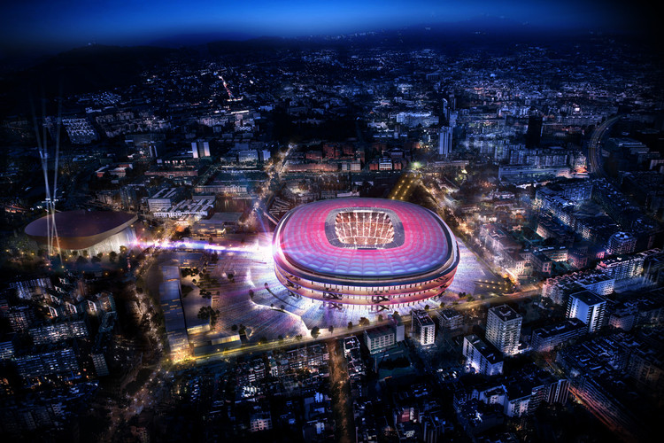 Nikken Sekkei to Design New Camp Nou, Design of the new Camp Nou. Image Courtesy of FC Barcelona