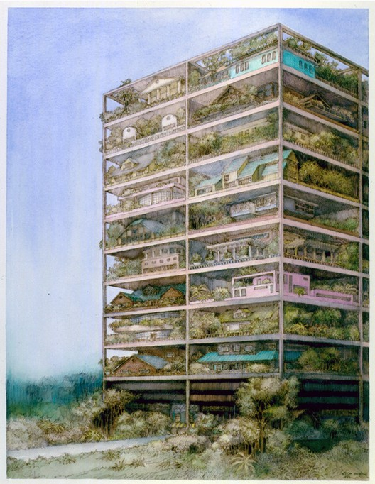 Highrise of Homes theoretical project (1981). Image © SITE