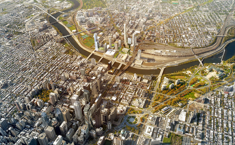 Schuylkill Yards - proposed. Image © SHoP and West 8