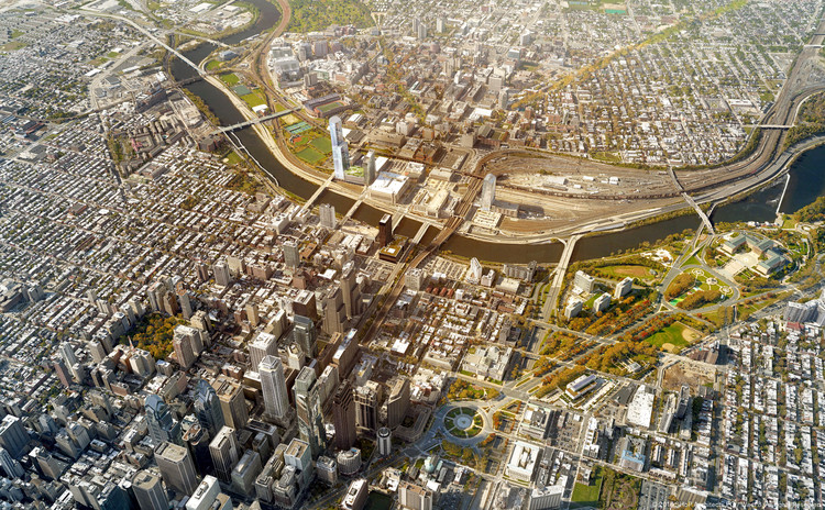 Schuylkill Yards - existing. Image © SHoP and West 8