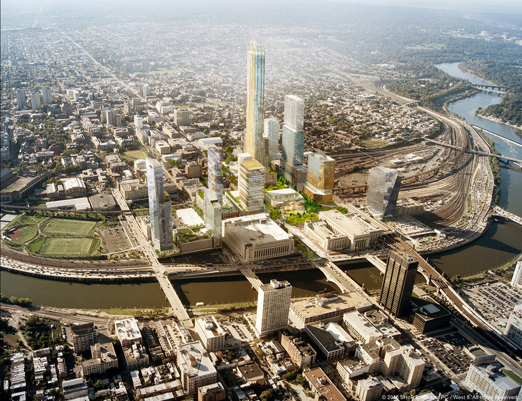 "SHoP and West 8 to Masterplan Philadelphia's ""Schuylkill Yards"", Schuylkill Yards - proposed. Image © SHoP and West 8"