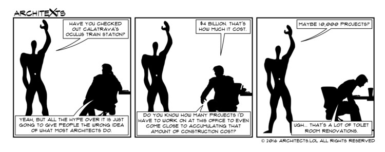 "Comic Break: ""Crazy Project Budgets"", Courtesy of Architexts"