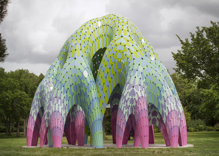 Dallas Architecture Forum Presents Architect Marc Fornes, Vaulted Willow Public Art Pavilion, Edmonton, Canada by Marc Fornes who will address the Dallas Architecture Forum on March 29. Photo Courtesy of the Architect.