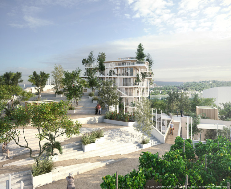 Imagen © SOU FUJIMOTO ARCHITECTS + LAISNÉ ROUSSEL + RENDERING BY TÀMAS FISHER AND MORPH.