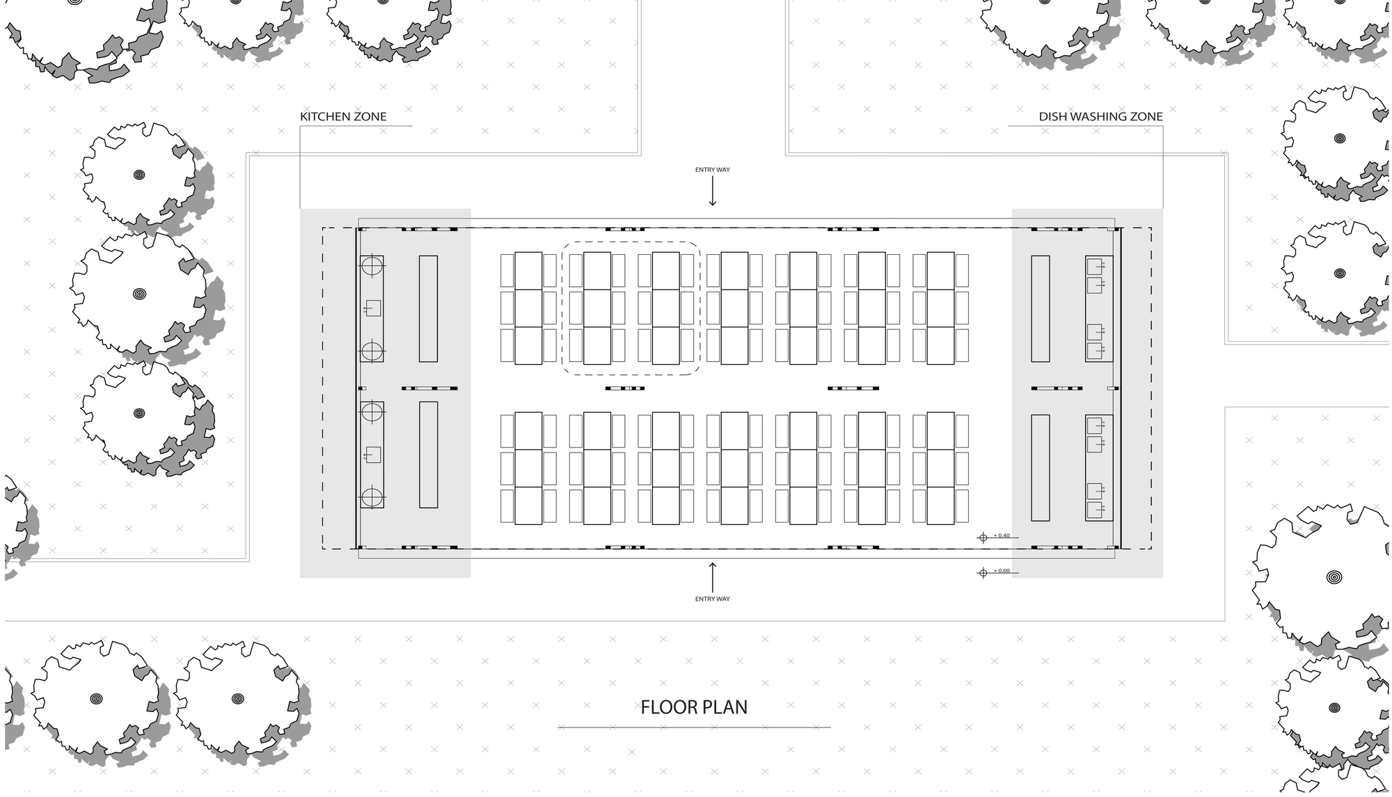 gallery of chonnabot community school canteen inda design build peter strzebniok