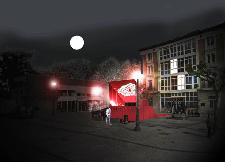 Concéntrico 02: presentan diseños ganadores del pabellón y la intervención en patio de Ruavieja, Cuña Urbana. Image Cortesía de Concéntrico