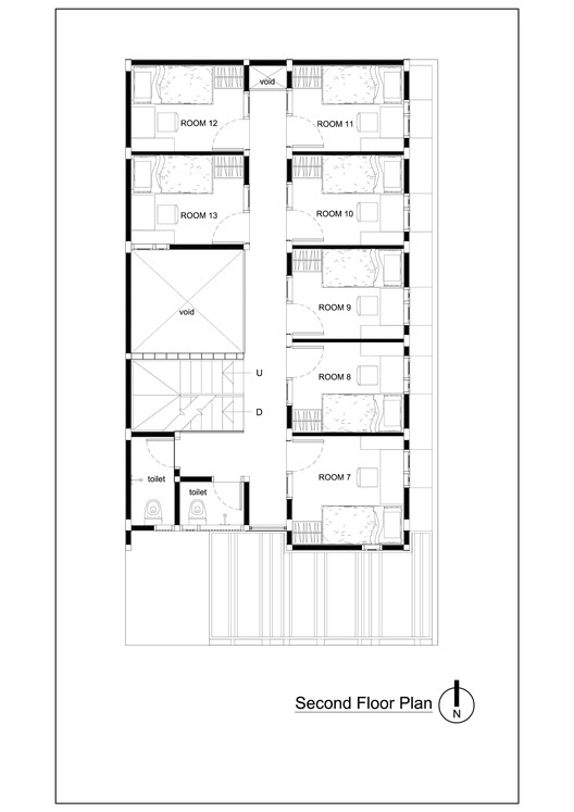 3._Second_Floor_Plan?1458261015 bioclimatic and biophilic boarding house andyrahman architect,Boarding House Plans