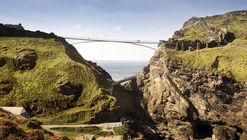 Tintagel Castle Bridge Competition Won by Ney & Partners and William Matthews Associates
