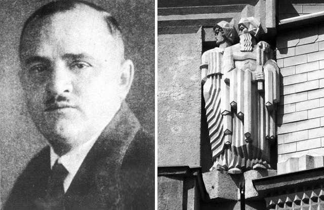 """Emil Králíček"", image via Kubista.cz // ""Diamant House"" by Gampe is licensed under Public Domain"
